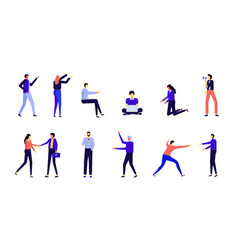 16people character movement vector image