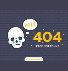 404 page not found page design vector