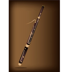 A Classical Bassoon on Dark Brown Background vector