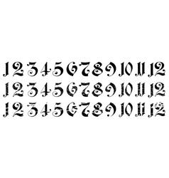 Arabian numerals vector