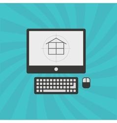 architecture concept design vector image