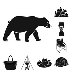 Barbeque and leisure icon vector