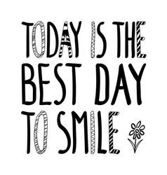 Best day smile flower vector
