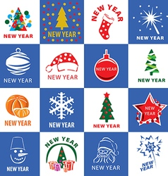 biggest collection of logos for the new year vector image