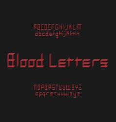 Blood letters font alphabet vector