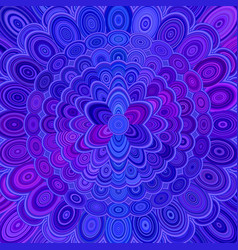 blue abstract flower mandala background - love vector image