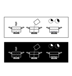 Boiling instruction vector image vector image