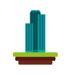 Buildings over ground icon vector