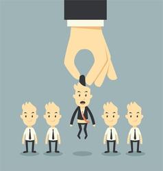 businessman hand choosing vector image