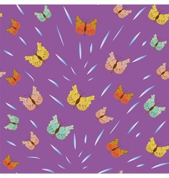 butterflies pattern vector image