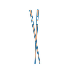 Chopsticks japanese food cutlery vector