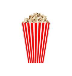 cinema popcorn mockup realistic style vector image