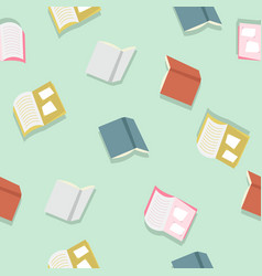 colorful books pattern vector image