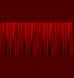 Colorful naturalistic gradient red curtains vector