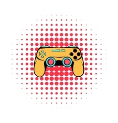 Console joystick comics icon vector