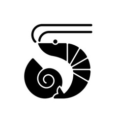 Crustaceans and molluscs black glyph icon vector