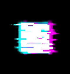 Distorted glitch style stop recording and media vector