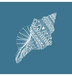 Entangle stylized sea cockleshell hand drawn vector