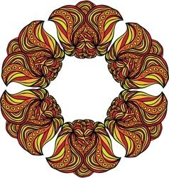 Fantastic orange flower vector image