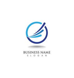 Finance logo business vector