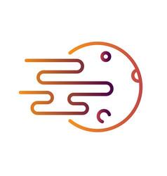 Fullmoon linegradient vector