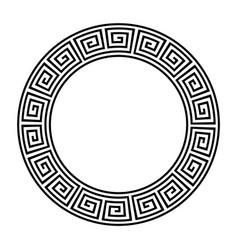 greek circle pattern border round vector image