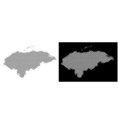 halftone honduras map vector image