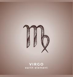 Hand drawn virgo zodiac sign vector