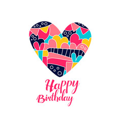 happy birthday day logo creative template with vector image