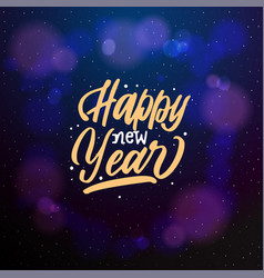 happy new year 2019 typographic emblem vector image