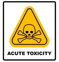 Hazard pictogram acute toxicity vector