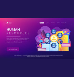 Human resources concept landing page vector