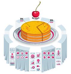 Infographics template piece of pie idea vector