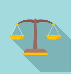 Judge balance icon flat style vector
