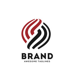letter s circle strips logo design vector image