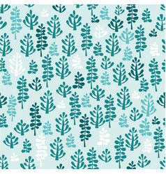 light blue and green leaf seamless pattern vector image