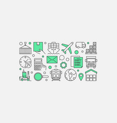 logistics and delivery vector image