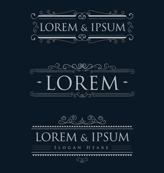 luxury logos template calligraphy flourishes vector image