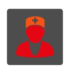 Medic Flat Button vector