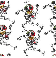 mexican skeleton dia de los muerto symbol calavera vector image