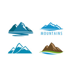 Mountain rock logo vector