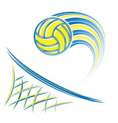 Net and volleyball vector