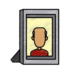 old man picture frame vector image