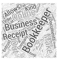 Online Bookkeeping Fit for your Business Word vector
