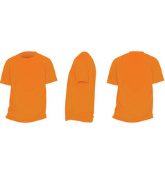 orange t shirt vector image