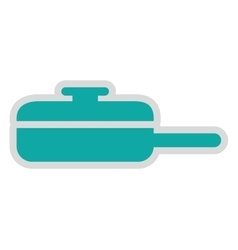 Pan fry isolated icon design vector