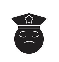 policeman emoji black concept icon vector image