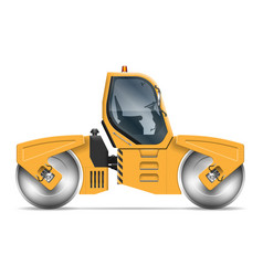 realistic road roller vector image