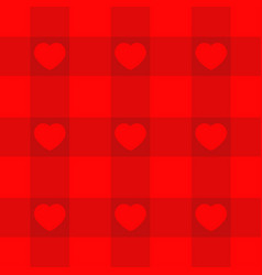 red checkered pattern tablecloth background with vector image