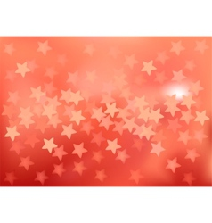 Red festive lights in star shape background vector